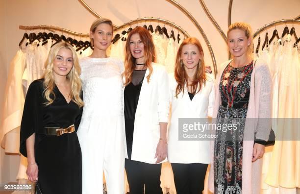 Delia Fischer CEO of Westwing Model Sarah Brandner Fashion designer Alexandra FischerRoehler and Johanna Kuehl and Carina Gomez wife of Mario Gomez...