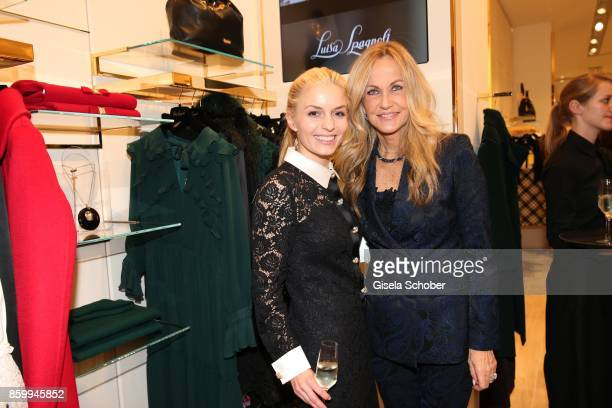 Delia Fischer founder and CEO of Westwing and Nicoletta Spagnoli during the Luisa Spagnoli boutique opening Munich at Preysing Palais on October 10...