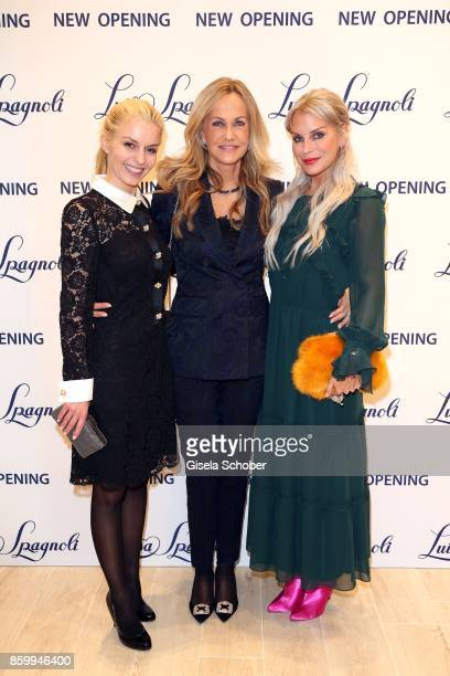 Delia Fischer founder and CEO of Westwing Nicoletta Spagnoli and Nina Heyd jewelry designer Capulet during the Luisa Spagnoli boutique opening Munich...