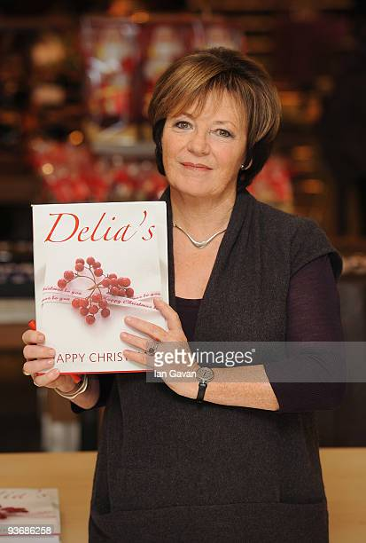 Delia Smith attends a book signing event for her latest cookery book 'Delia's Happy Christmas' at John Lewis Oxford Street on December 3 2009 in...