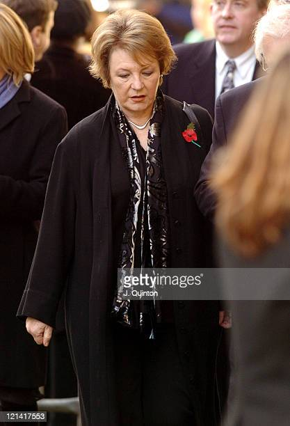 Delia Smith during Broadcaster John Peel's Funeral - November 12th, 2004 at St. Edmundsbury Cathedral in Bury St. Edmunds, Great Britain.