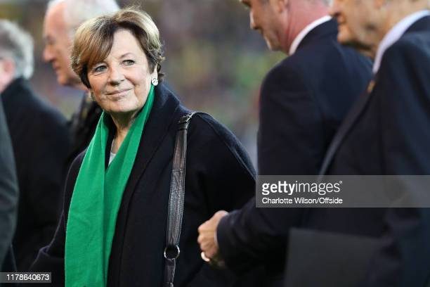 Delia Smith during the Premier League match between Norwich City and Manchester United at Carrow Road on October 26 2019 in Norwich United Kingdom