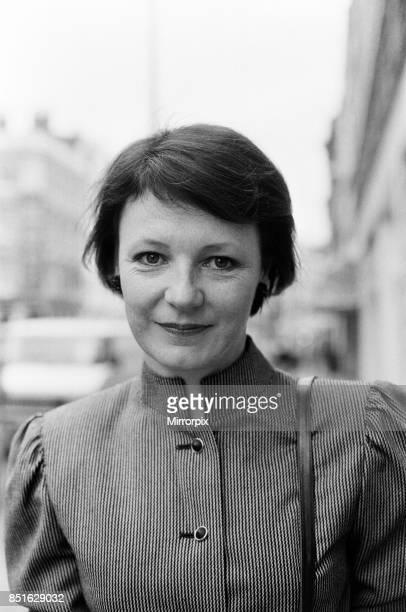 Delia Smith in Marylebone High Street, London, 27th November 1984.
