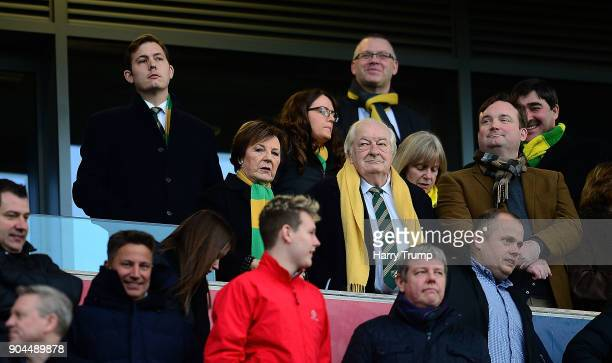 Delia Smith looks on prior to kick off during the Sky Bet Championship match between Bristol City and Norwich City at Ashton Gate on January 13 2018...