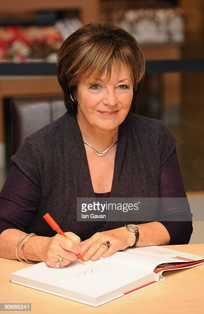 Delia Smith signs a copy of her latest cookery book 'Delia's Happy Christmas' at John Lewis Oxford Street on December 3 2009 in London England