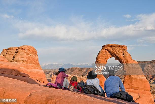 Watching the Sunset on Delicate Arch