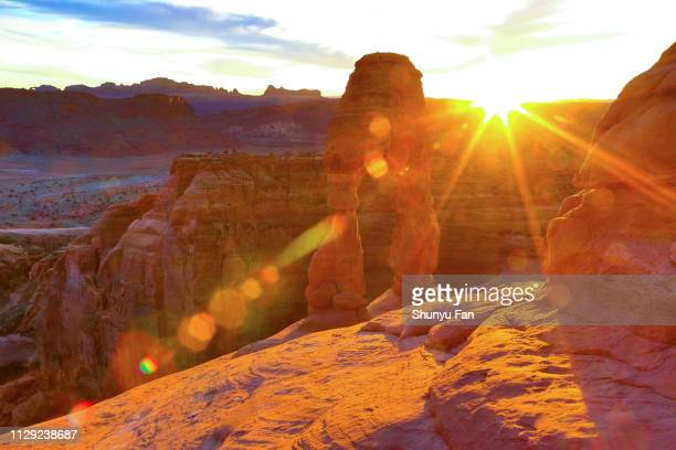 delicate arch - sandy utah stock pictures, royalty-free photos & images