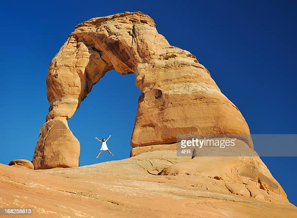 delicate arch - delicate arch stock pictures, royalty-free photos & images