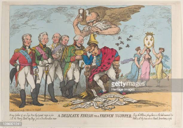 Delicate Finish to a French Usurper, April 20, 1814. Artist Thomas Rowlandson.