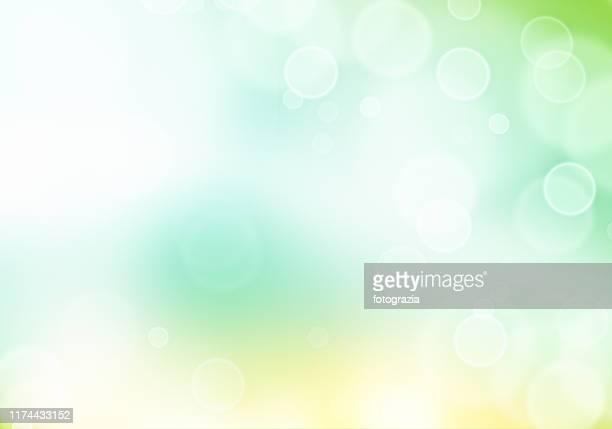 delicate green defocused lights background - 発光性 ストックフォトと画像