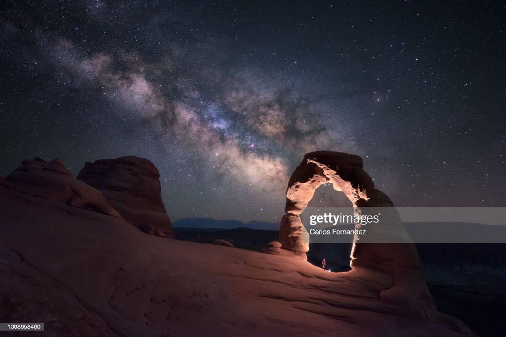 Delicate Milky Way : Stock Photo