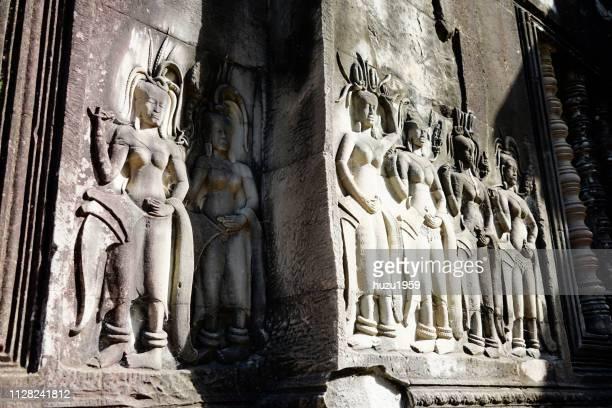 Delicate relief of Angkor Wat