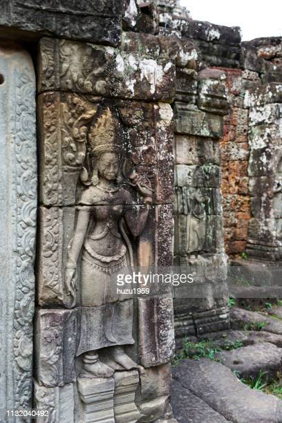 Delicate relief of Banteay Kdei, Siem Reap, Cambodia