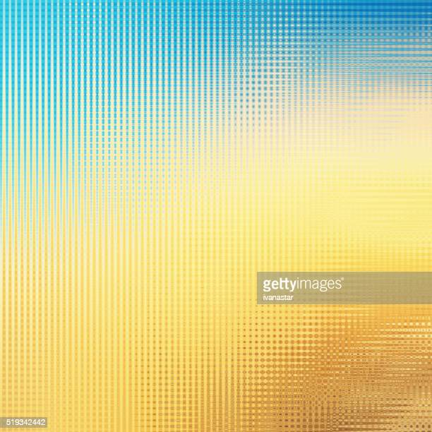 Delicate Soft Modern Pattern Abstract Background Blue Yellow Orange
