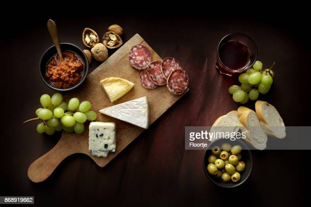 delicatessen: delicatessen variety still life - aperitif stock photos and pictures