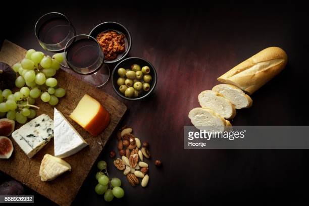 delicatessen: delicatessen variety still life - roquefort cheese stock photos and pictures
