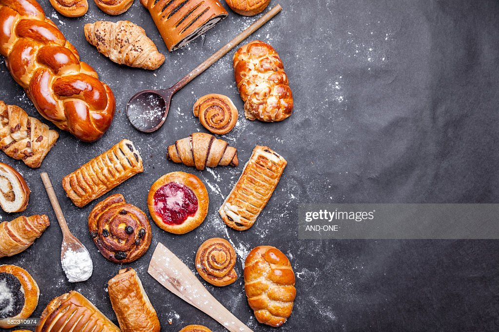 Delicious and sweet seasonal pastry background : Stock Photo
