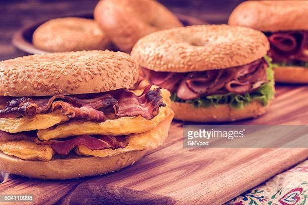 Delicious Bagel Sandwiches