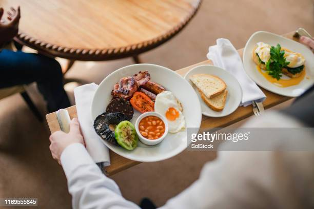 delicious breakfast - service stock pictures, royalty-free photos & images