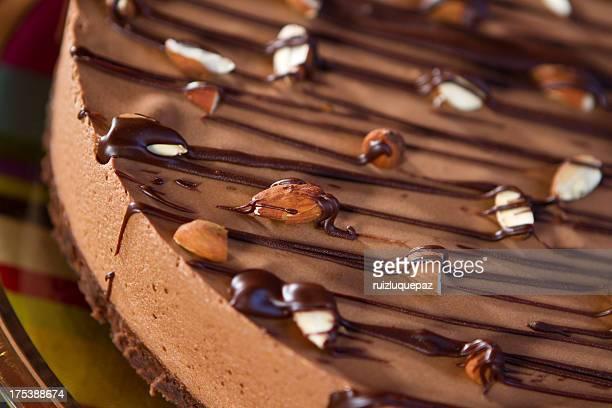 Köstliche Schokoladen-brownie oder eine mousse dessert