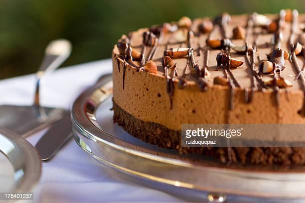 brownie au chocolat délicieux et de mousse