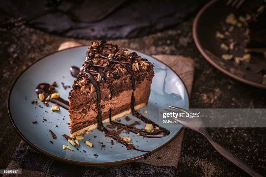 Delicious Chocolate Layer Cake : Stock Photo
