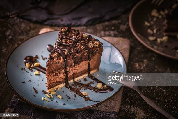 delicious chocolate layer cake - cake stock pictures, royalty-free photos & images