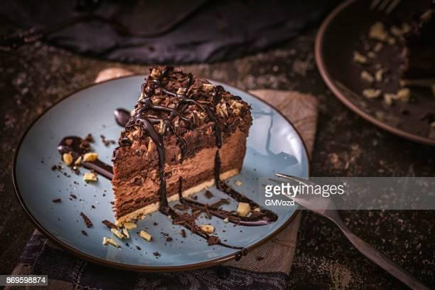 美味しいチョコレートを重ねたケーキ