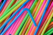 Delicious Colorful Plastic Drinking Straws; Bendable, Flexible, Disposable, Rainbow Colors