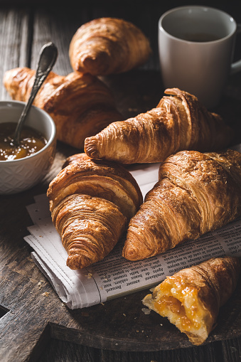 Delicious croissants for breakfast 897546556