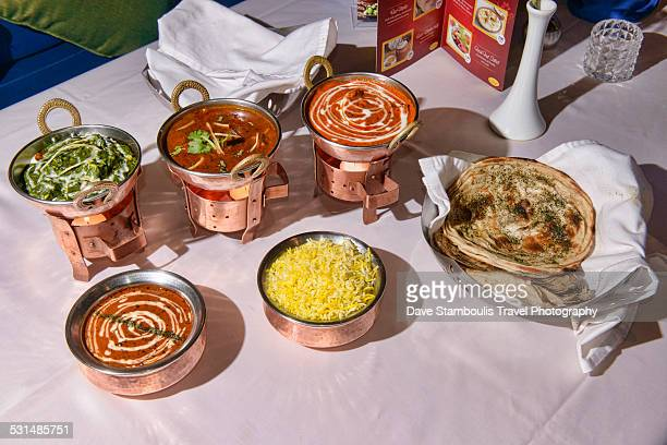 delicious dal and curry at an indian restaurant - north indian food stock photos and pictures