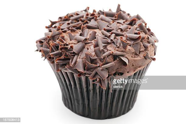A delicious dessert of a chocolate cupcake muffin