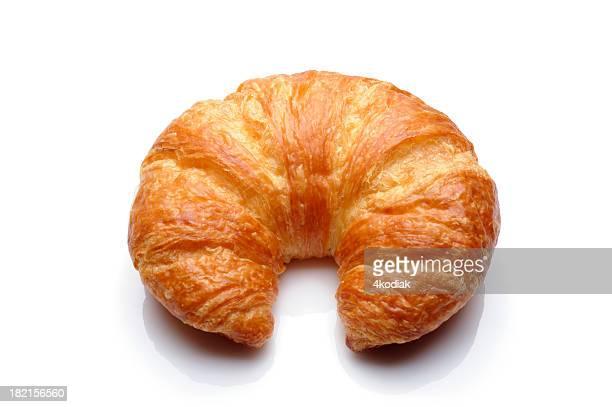Delicious fresh butter croissant up close