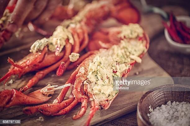 Deliziosi cucinati Aragosta fresca