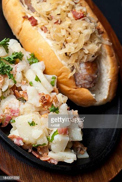 Delicious German potato salad and bread
