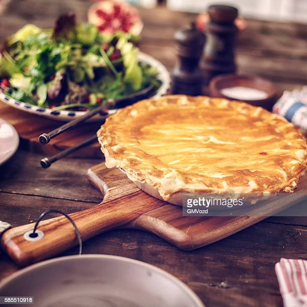Delicious Homemade Chicken Meat Pie