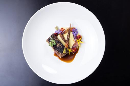Delicious Lamb Ribs Plated 542180758