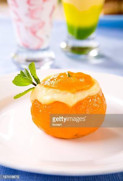Delicious mandarine Sorbet