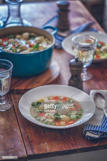 Delicious Minestrone Soup with Fresh Vegetables