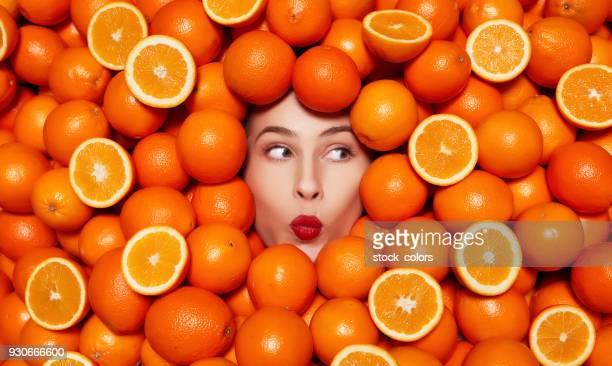 Köstlichen Orangen