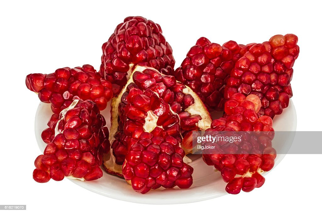 Delicious pomegranate fruit, isolated on white  background : Foto stock