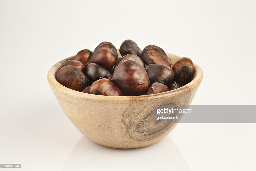 Delicious Roasted Chestnut kestane : Stock Photo