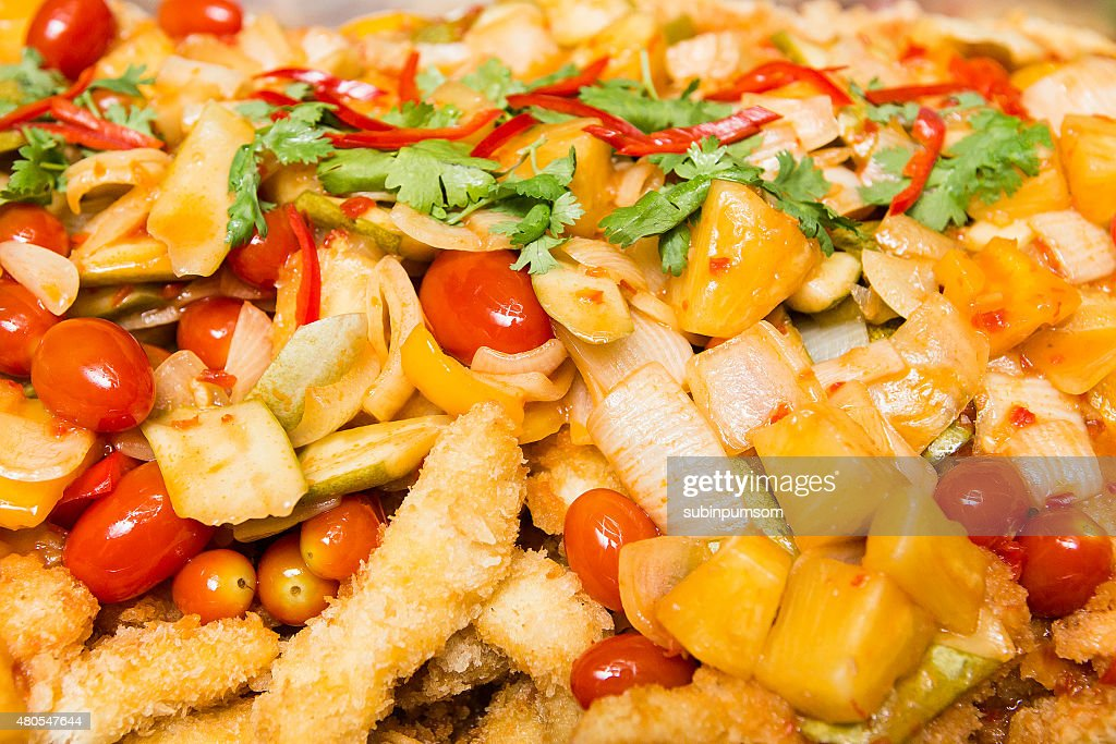 delicious Thailand meal of Sweet and Sour Fish : Stock Photo