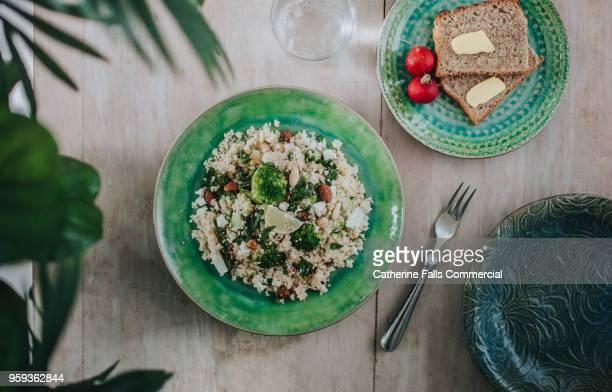 delicious vegetarian meal - couscous photos et images de collection
