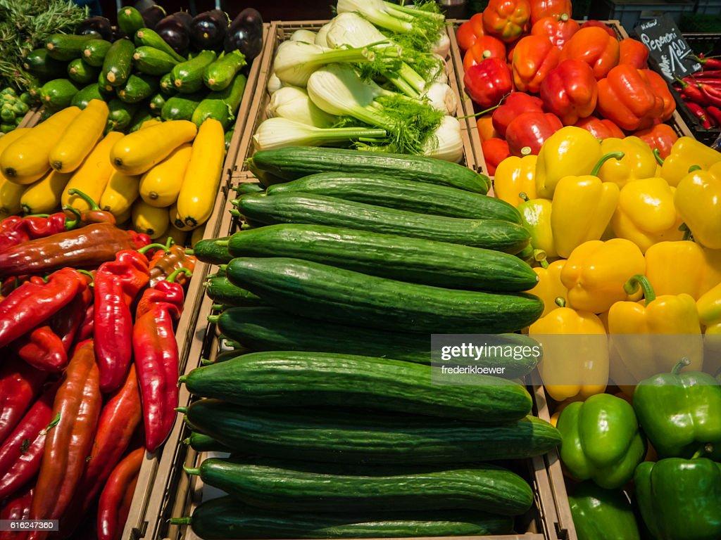 Delicious Vetegables on a Market : Foto de stock