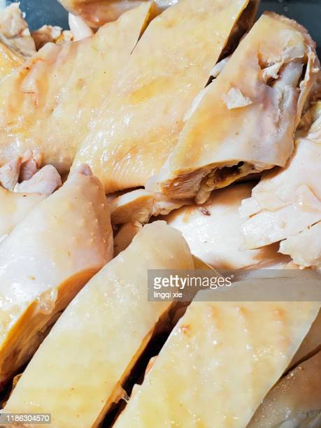 delicious white-cut chicken - cornish pasty stock pictures, royalty-free photos & images