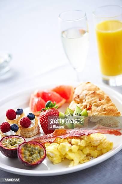 Delicirous breakfast or brunch plate