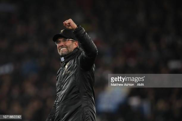 A delighted Liverpool manager head coach Jurgen Klopp during the UEFA Champions League Group C match between Liverpool and SSC Napoli at Anfield on...