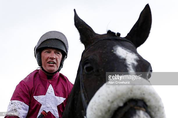 A delighted Paul Carberry after riding Don Cossack to win The Bibby Financial Services Ireland Punchestown Gold Cup at Punchestown racecourse on...