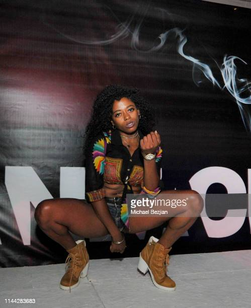 Delila Outlaw performs at Welcome to Cannacity 'She's Smokin' Event on April 20 2019 in Los Angeles California
